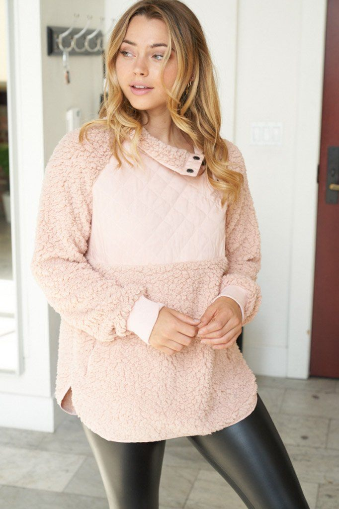 Found My Heart Blush Fleece Sweater 3