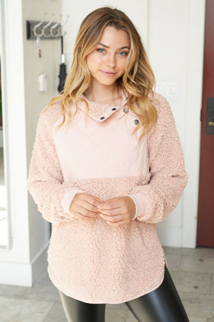 Found My Heart Blush Fleece Sweater 4