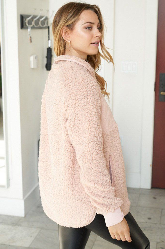 Found My Heart Blush Fleece Sweater 2