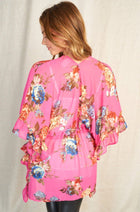 Get Inspired Pink Floral Kimono 2