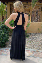 Glimpse Of Glamour Black Halter Maxi Dress 2