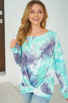 Heart Breaker Blue Multi Tie Dye Top 4