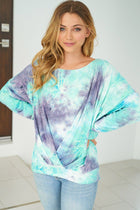 Heart Breaker Blue Multi Tie Dye Top 3