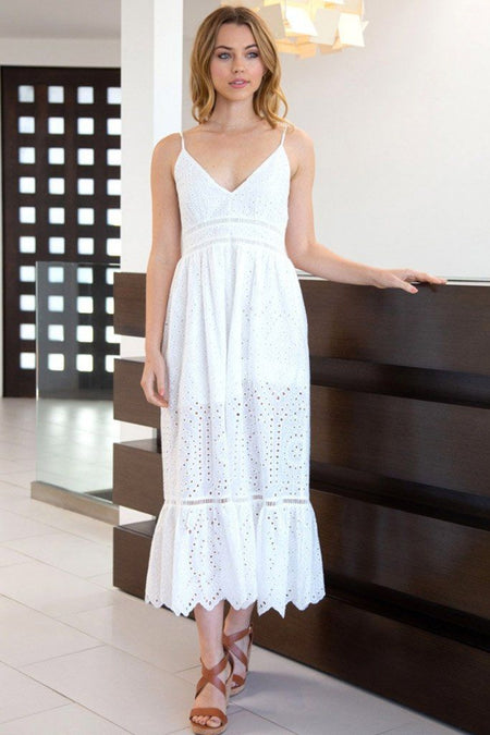 Heart Of Summer White Eyelet Maxi Dress 1