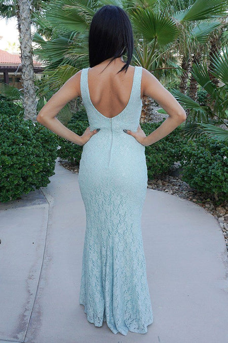 Here To Wow Shimmer Mint Lace Maxi Dress 1
