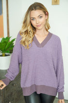 Hold Me Close Lilac Purple Knit Sweater 1