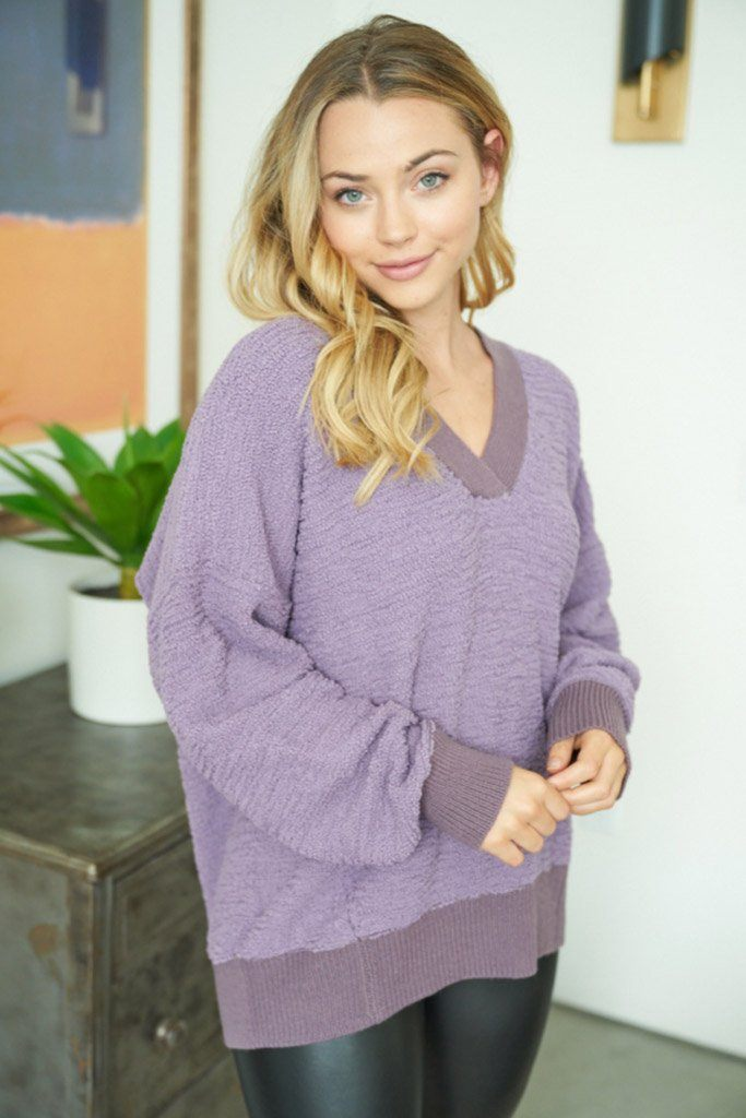 Hold Me Close Lilac Purple Knit Sweater 3