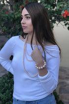 Illuminate The Night Nude Pearl Stretch Bracelet 2