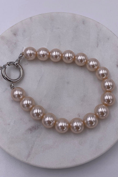 Illuminate The Night Nude Pearl Stretch Bracelet 1