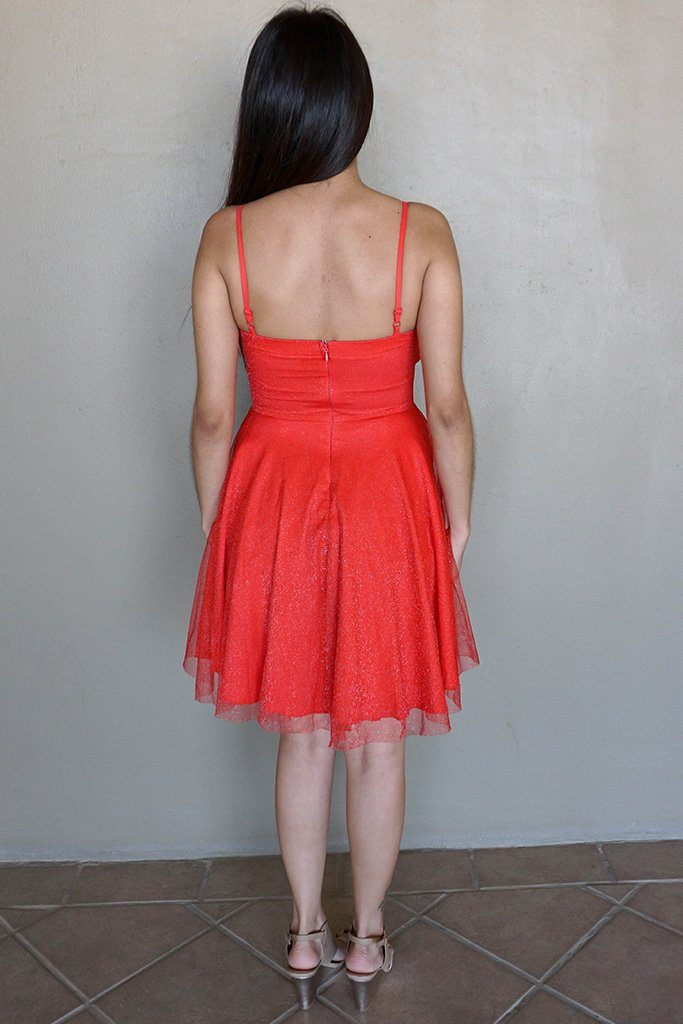 Into The Night Red Skater Dress 3