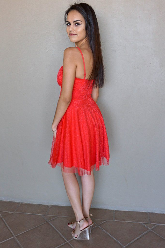 Into The Night Red Skater Dress 2