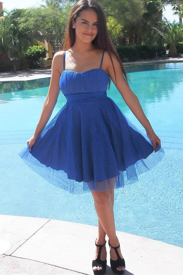 Into The Night Royal Blue Skater Dress 4