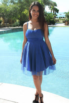 Into The Night Royal Blue Skater Dress 2
