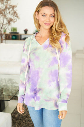 It's A Breeze Mint Multi Tie Dye Hoodie 1