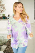 It's A Breeze Mint Multi Tie Dye Hoodie 3