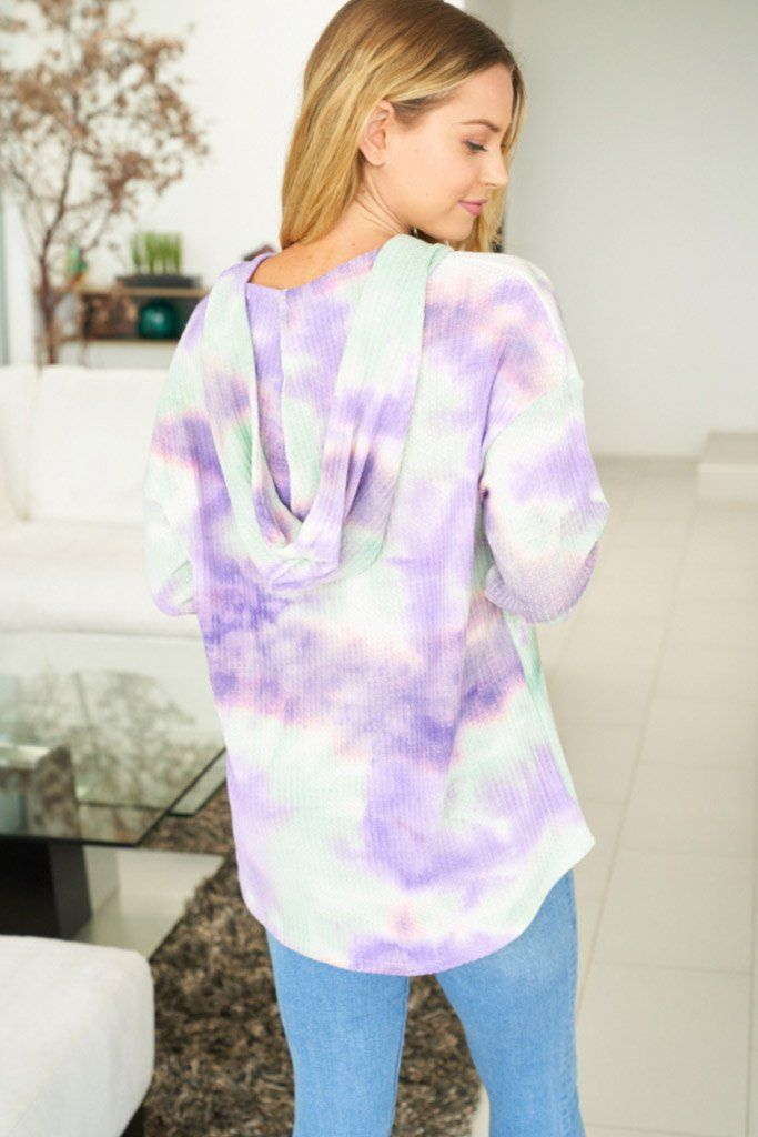 It's A Breeze Mint Multi Tie Dye Hoodie 2