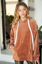It's Just A Crush Bronze Velvet Hoodie 1
