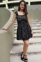 It's Now Or Never Black Lace Skater Dress 4