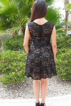 It's Now Or Never Black Lace Skater Dress 3