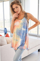 Keep The Vibe Fierce Blue Tie Dye Cheetah Print Top 4