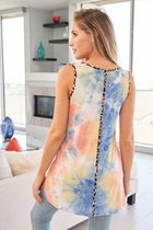 Keep The Vibe Fierce Blue Tie Dye Cheetah Print Top 2