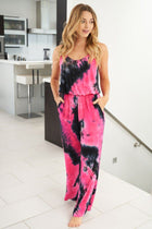 Keep The Vibe Fuchsia Multi Tie Dye Jumpsuit 3