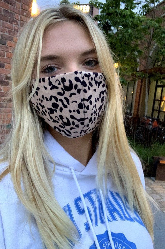 Leopard Print Cloth Face Mask 1