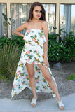 Let's Luau Tropical Pineapple Print Strapless Maxi Romper