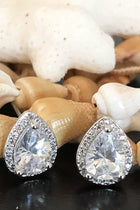 Light In The Night CZ Diamante Teardrop Stud Earrings 3