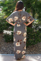 Light Up The Room Faye Grey Floral Print Maxi Dress 3
