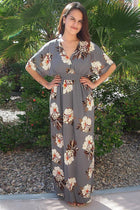 Light Up The Room Faye Grey Floral Print Maxi Dress 4
