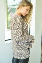 Love Of My Life Leopard Print Pullover 2