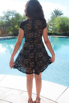 Love You Always And Forever Black Lace Skater Dress 3