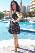 Love You Always And Forever Black Lace Skater Dress 2