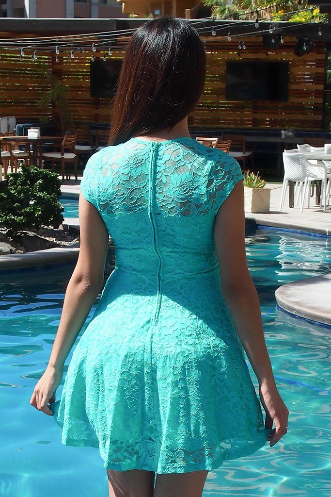 Love You Always And Forever Mint Lace Skater Dress 3