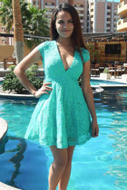 Love You Always And Forever Mint Lace Skater Dress 4