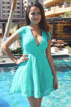 Love You Always And Forever Mint Lace Skater Dress 2