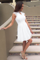 Love You Always White Lace Cutout Skater Dress 2