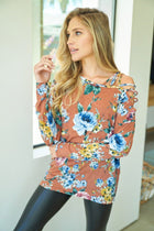 Love you More Rust Floral Print Top 4