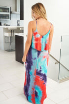 Magic Marker Teal Tie Dye Dress 2
