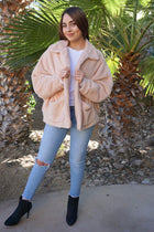 Make A Statement Beige Faux Fur Collar Jacket 4