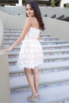 Make It Happen White Embroidered Lace Strapless Dress 2