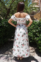 Make It Special White Floral Print Off The Shoulder Maxi Dress 3