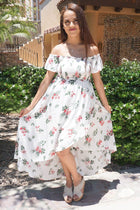 Make It Special White Floral Print Off The Shoulder Maxi Dress 4