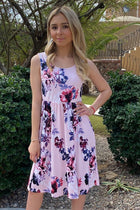 Make My Dreams Come True Pink Floral Print Midi Dress 1