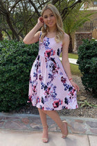 Make My Dreams Come True Pink Floral Print Midi Dress 3