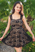 Meet Me In Manhattan Black Lace Skater Dress 1