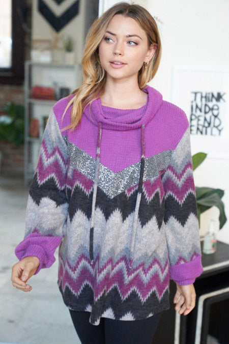 My New Favorite Purple Multi Print Sweater 1