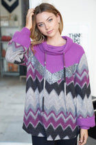 My New Favorite Purple Multi Print Sweater 4