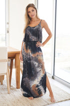 Once You Know Blue Multi Tie Dye Maxi Dress 4
